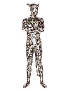 Leopard Unisex Shiny Metallic Animal Cosplay Zentai Suit