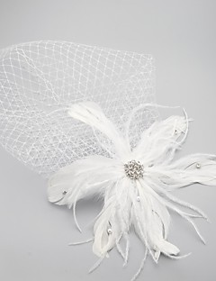 Wedding Veil One-tier Veils for Short Hair/Headpieces with Veil Raw Edge