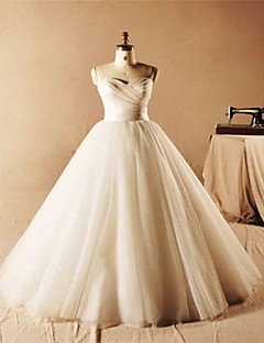A-line Floor-length Wedding Dress -Sweetheart Tulle
