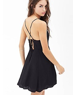 vrouwen sexy / strand / casual / party v hals jurk