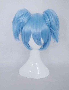 Cosplay Wigs Assassination Classroom Cosplay Blue Short Anime Cosplay Wigs 35 CM Heat Resistant Fiber Female