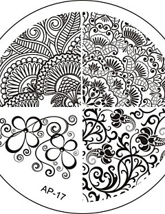 Nail Art Stamp Stamping Image Template Plate AP Series NO.17