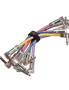JOYO CM-11 Colorful Connection Cable for Guitar Bass Pedal 6PCS/lot Guitar Pedal Cable