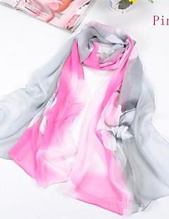 sjalar chiffong / polyester flower print casual / speciella tillfällen halsdukar (fler färger)
