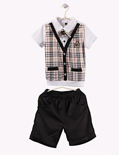 Jungen Kleidungs Set - Baumwolle Schachbrett Sommer / Frühling / Herbst
