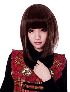 Zipper Vivid Girl Brown Short Bob Classic Lolita Wig