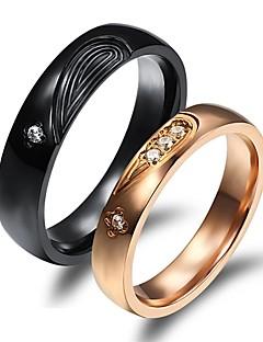 Ringen Bruiloft / Feest / Dagelijks / Causaal / Sport Sieraden Verguld Echtpaar Ringen voor stelletjes 2 stuks,5 / 6 / 7 / 8 / 9 / 10