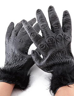 Gloves Cosplay Festival/Holiday Halloween Costumes Black Solid Gloves Halloween Unisex