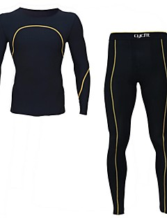 Cycling Jersey with Tights Men's Long Sleeve Bike Breathable / Quick Dry / Wearable / Antistatic / Static-free / CompressionCompression