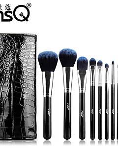 msq® 10pcs Faser schwarzen Make-up Pinsel-Sets