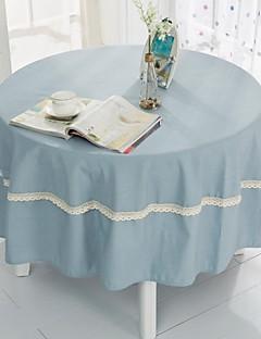 """la lumière nappe ronde bleu avec crochet, polyester dia. (70 """"), 200cm (78"""")"""