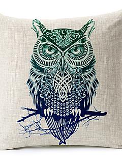 hibou de style modemodern motifs coton / lin taie d'oreiller décoratif