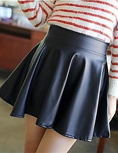sexy inelásticos mini saias médio das mulheres (misturas de algodão)