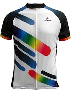 JESOCYCLING® Cycling Jersey Men's Short Sleeve Bike Breathable / Quick Dry / Back Pocket Jersey / Tops 100% PolyesterStripe / Classic /