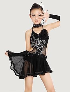 Dječji Latin Dance (Crn Kristali / Rhinestones/Cvijet (i))