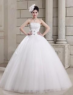Ball Gown Wedding Dress Floor-length Strapless Tulle