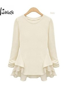 NUO WEI SI ®  Women's Round Neck Occidental Style Long Sleeve Blouse