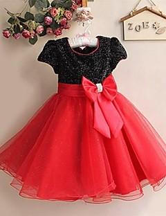 Vestido de niña de las flores Corte A/Corte Princesa - Escote Joya - Hasta la Rodilla ( Satén/Tul )
