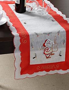 100% polyester motif de père noël multi-usage nappe avec la taille 35x76cm (13x29 pouces)
