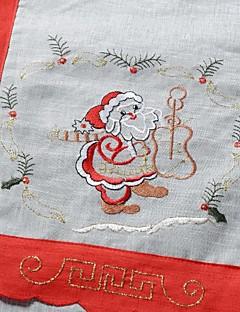 100% polyester motif de père noël multi-usage nappe avec la taille 25x33cm (9.8x13 pouces)