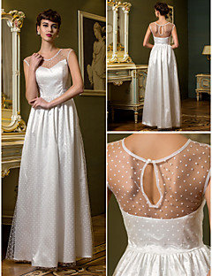 Lanting Sheath/Column Wedding Dress - Ivory Floor-length Scoop Tulle