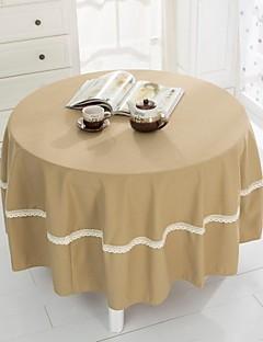 """beige foncé tissu de table ronde, polyester dia. (70 """"), 200cm (78"""")"""