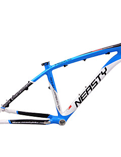 "Neasty Brand MB-NT02 Full Carbon Fiber MTB Frame Blue White Color 26er Frame 15""/17"""