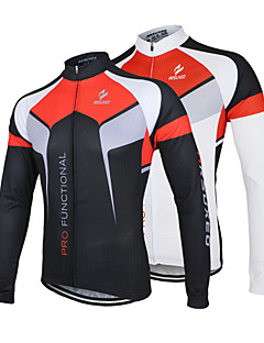 Arsuxeo Men's Breathable Long Sleeve Bicycle Cycling Jersey