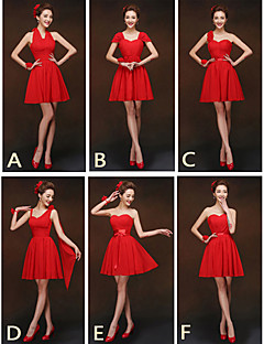 Mix & Match Dresses Short/Mini Chiffon 6 Styles Bridesmaid Dresses (2840134)