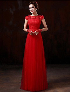 Formal Evening Dress - Ruby Plus Sizes Sheath/Column Bateau Floor-length Lace