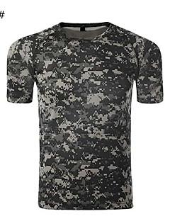Camiseta ( Camuflagem ) - de Acampar e Caminhar/Caça/Fitness - Unissexo -Respirável/Resistente Raios Ultravioleta/Permeável á
