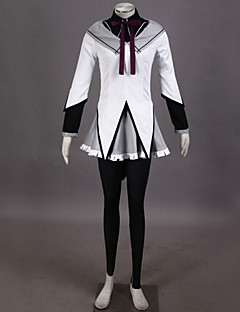 Inspired by Puella Magi Madoka Magica Homura Akemi Video Game Cosplay Costumes Cosplay Suits Patchwork WhiteTop / Blouse / Skirt / Pants