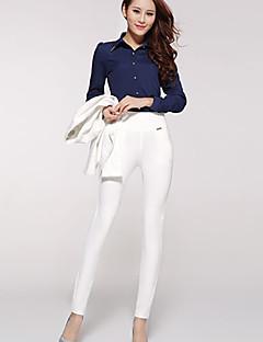 Обтягивающие - Средняя - Эластичная - Женские брюки (Спандекс/Полиэстер)