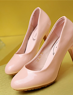 Women's Shoes  Stiletto Heel Heels/Round Toe Pumps/Heels Wedding/Outdoor/Office & Career/Casual Black/Pink/White/Beige