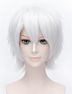 Cosplay Paruky Reborn! Byakuran Stříbro Short Anime Cosplay Paruky 30 CM Horkuvzdorné vlákno Pánský / Dámský