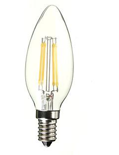 1 kpl E14 4.0 W 4 500 LM Keltainen Kynttilälamput AC 220-240 V