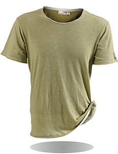 JOZSI Men's Summer Camping Hiking Quick Dry 100% Cotton O-Neck Short Sleeve T-Shirts 3 Colors