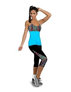 ריצה חותלות / 3/4 טייץ / מכנסיים / מדים בסטים / תחתיות לנשים ייבוש מהיר / לביש / דחיסה / עמיד לזעזועים אלסטיין יוגה / כושר גופני / ריצה