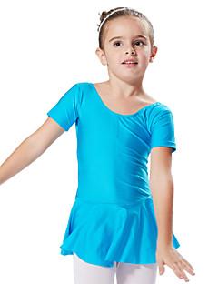 バレエ ドレス チュチュスカート ワンピース 子供用 演出 訓練 スパンデックス 1個 半袖 プリンセス ドレス