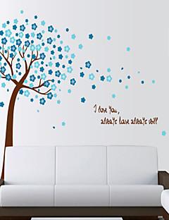 Wandaufkleber Wandtattoo, Stil Blumen Bäume PVC Wandaufkleber
