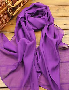 Fashion Shawls Shawls/Scarves Chiffon Candy Pink/Purple(More Colors)