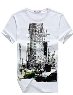 forår mode e-Baihui hip hop mænd T-shirt new york fitness skate Camisetas Swag