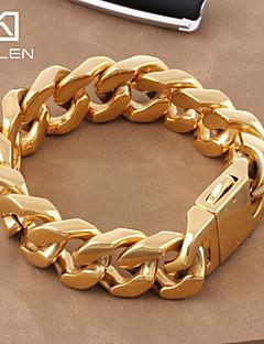 Damen Herrn Paar Ketten- & Glieder-Armbänder Klassisch Luxus-Schmuck Gold Titanstahl vergoldet Schmuck Schmuck FürHochzeit Alltag