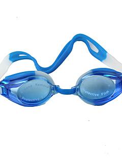 плавательные очки Универсальные Водонепроницаемый / Регулируемый размер Пластик Пластик Тёмно-синий Прозрачные