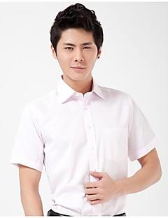 U&Shark Casual&Fashion Men's  Short Sleeve Shirt with Business Pink Stripes Jacquard/DYF011