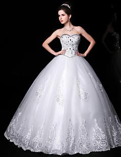 Ball Gown Floor-length Wedding Dress -Sweetheart Lace