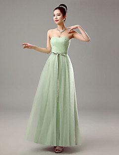 Dress Sheath / Column Sweetheart Floor-length Chiffon with Crystal Detailing
