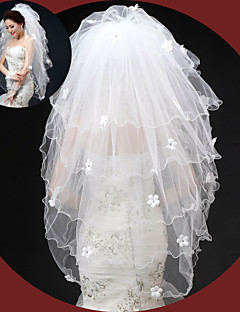 Wedding Veil Six-tier Elbow Veils Pencil Edge