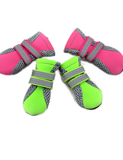 Cat / Dog Shoes & Boots Green / Pink Spring/Fall Mixed MaterialDog Shoes