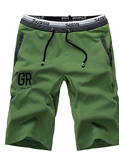 Masculino Shorts Masculino Estampado Casual/Esporte Tricô